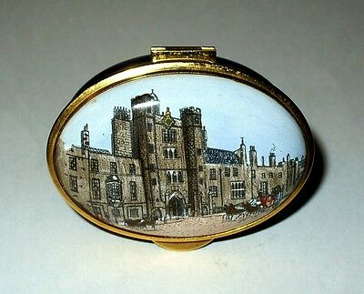 Staffordshire English Enamel Box - St. James Palace - London - British Royalty