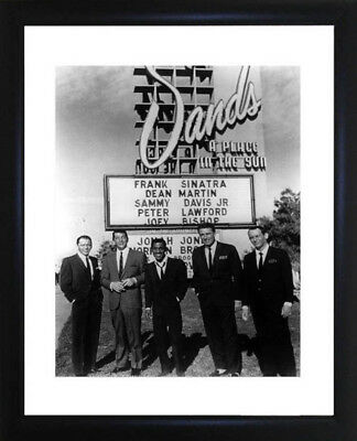 The Rat Pack - Framed Photograph - Size: 28cm x 33cm