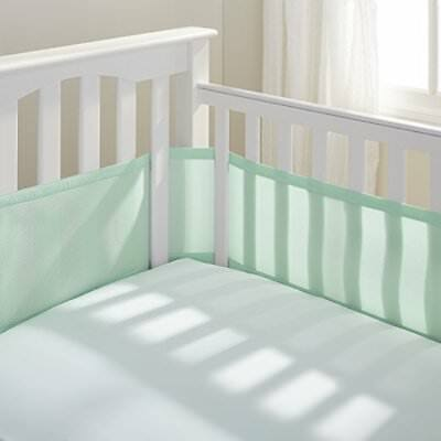 BreathableBaby Breathable Mesh Crib Liner, Mint Green