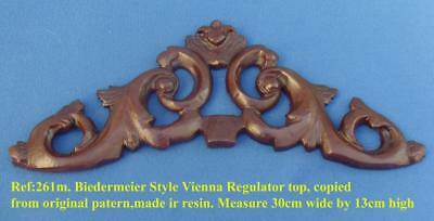 "TITLE: 261m ""Early biedermeier Vienna clock top crown moulding"" clock case   DIY"