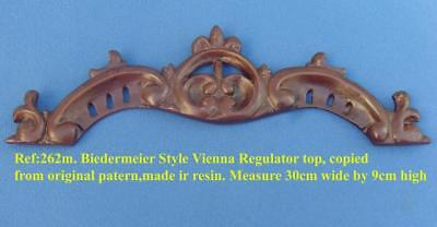 "TITLE: 262m ""Early biedermeier Vienna clock top crown moulding"" clock case   DIY"