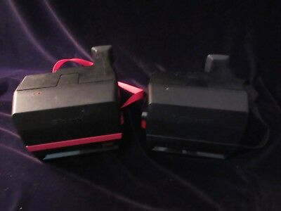 Two Vintage Polaroid 600 Cameras (One Red Cool Cam)