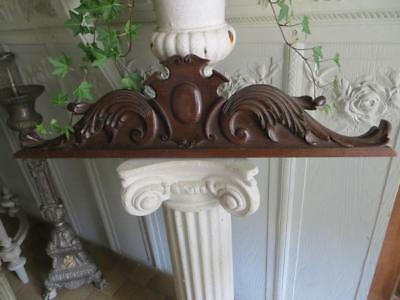 French Late 19th Century Oak Pediment...Perfect for over a Door-Mirror.
