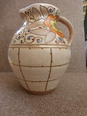 A Charlotte Rhead Trellis jug by H.J. Wood Ltd in excellent condition