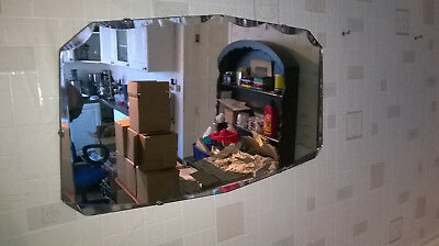 VINTAGE RETRO MIRROR WITH ORIGINAL CHAIN 1960's 1970's