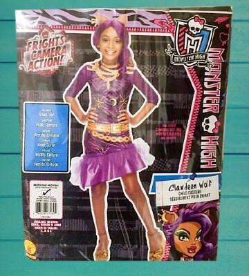 Monster High Clawdeen Wolf Costume Sz M 8-10 Girl Werewolf Pretend Play Dress Up