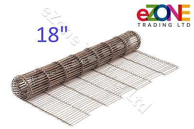 "Pizza Oven Conveyor Belt Chain 18"" ZANOLLI Synthesis 08/45 Wire Mesh"