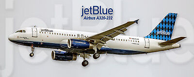 JetBlue Airways Airbus A320 Handmade Photo Magnet (PMT1534)
