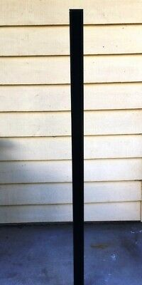 Aluminium Pool Fence Post Square  50 x 50 x 1.8 x 1800mm - Black Powder coated
