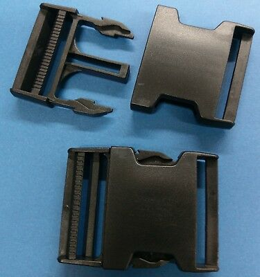 "2""  Side Release Adjustable Buckles, Heavy Duty use with 2"" webbing"