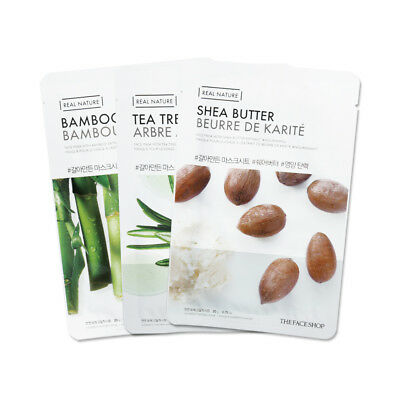 [THE FACE SHOP] Real Nature Face Mask - 3pcs / Free Gift