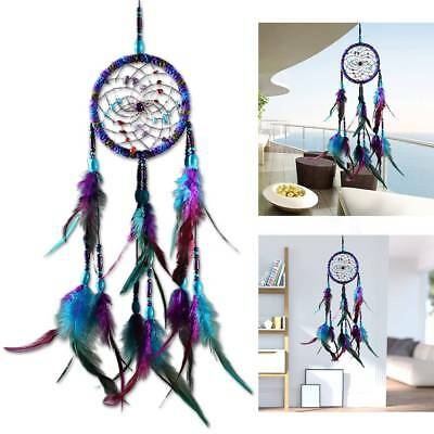 Large 55cm Colorful Feather Dream Catcher Car Home Hanging Decorations Ornament