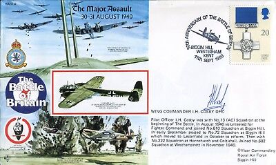 BB20 RAF Battle of Britain cover signed Fighter ace AYERST DFC