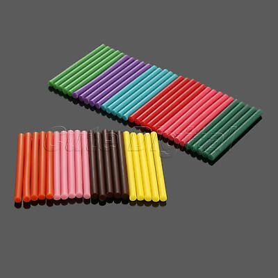 50Pcs 7*100mm Coloured Color Hot Melt Glue Gun Sticks Adhesive Craft DIY