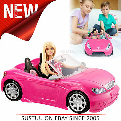 mattel djr55 barbie glam cabrio auto fahrzeug pink mit. Black Bedroom Furniture Sets. Home Design Ideas