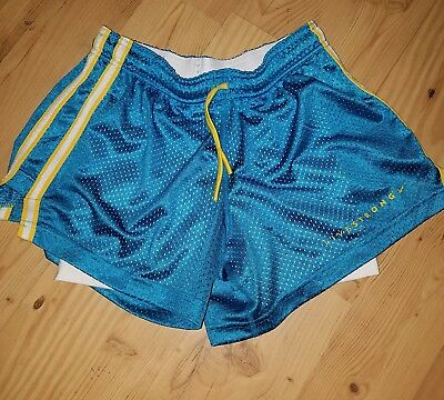 Nike Dri-Fit Livestrong Lined Running Shorts Women's XS Extra Small Blue Yellow