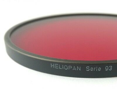 Heliopan 93MM DARK RED filter rotfilter for Hasselblad  Carl Zeiss CF 40mm 86mm
