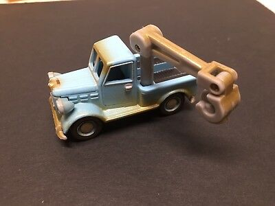 Bob the Builder Lt Blue Diecast Jackaroo w/ Boom Arm Learning Curve 2005 - EUC