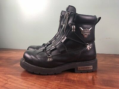 Harley Davidson Brake Light Zip Up Motorcycle Riding Boots Mens 13 91680 Usa