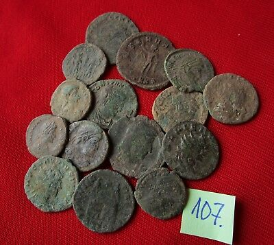 QUALITY UNCLEANED COINS - Ancient Roman - VERY GOOD. Lot with 15 pieces .No.107