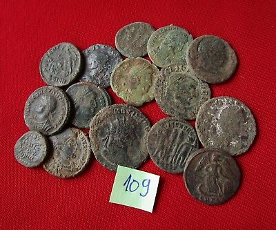 QUALITY UNCLEANED COINS - Ancient Roman - VERY GOOD. Lot with 15 pieces .No.109