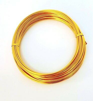 Aluminium Craft Wire GOLD 100g - 12 mts long 2mm gauge Decorative Florist Wire