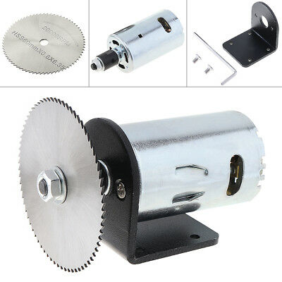 7pcs/set 24v Mini Motor Table Saw Kit with Ball Bearing Mounting Bracket Blade