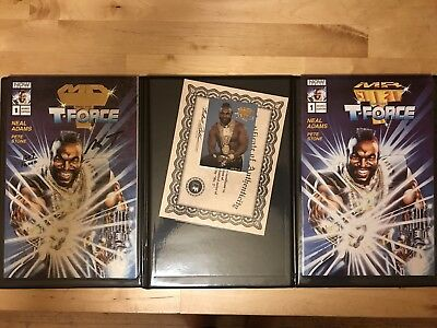 MR.T & T-FORCE Signed Gold Edition Comic #1 Card COA LIMITED 10K PORTFOLIO RARE