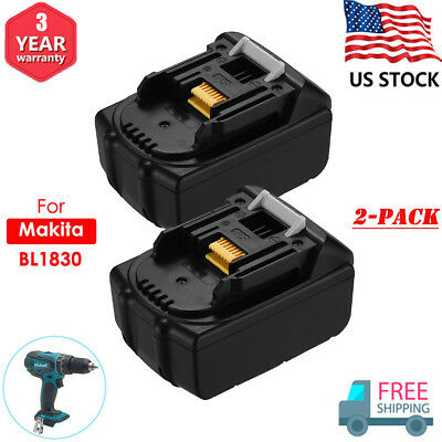 2x 18V 4.0Ah FOR MAKITA BL1830 BL1840 LXT400 Lithium-Ion Battery BL1850 194205-3
