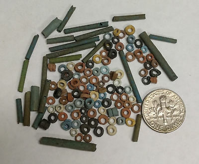 More than a Hundred 2500 Year old Ancient Egyptian Faience Mummy Beads (K7)