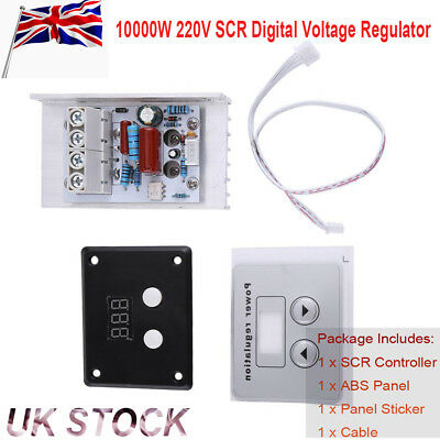 AC 220V 10000W SCR Digital Voltage Regulator Speed Control Dimmer Thermostat