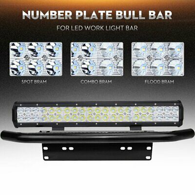 20 inch CREE LED Light Bar + 23'' Black Number Plate Frame Mount Bracket
