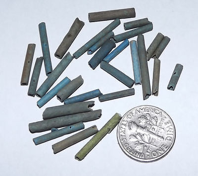 More than Two Dozen 2500 Year old Ancient Egyptian Faience Mummy Beads (#K34)