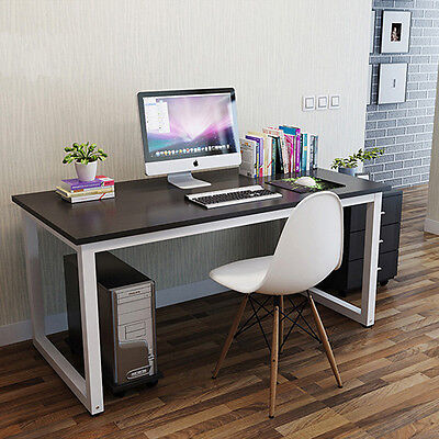 L-Shaped PC Computer Desk Large Corner PC Table with 2 Shelve Home Office Study