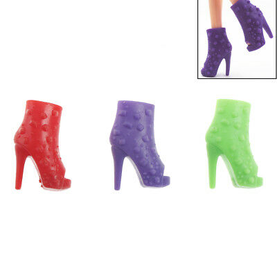 10 Pairs Barbie Shoes Doll Peep-toe Shoes Barbie Dolls Accessories Party Gift TS