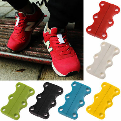 Womens Casual Lazy Magnetic Shoelace Sport Shoe Buckles No-Tie Sneaker Closure