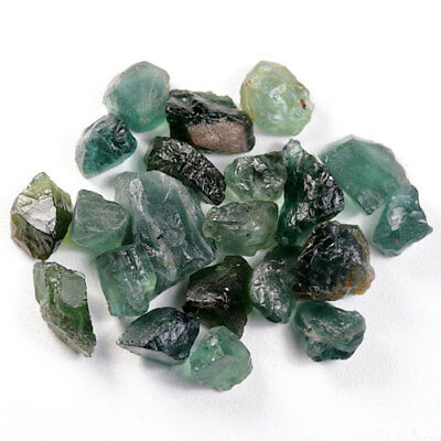 47.14 Ct.20 Pcs. Forest Green Apatite Rough Natural Gemstone Unheated Free Ship