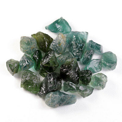 47.80 Ct.20 Pcs. Forest Green Apatite Rough Natural Gemstone Unheated Free Ship