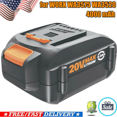 NEW! 4.0Ah For WORX WA3520 WA3525 20-Volt MAX Lithium Battery WG155 WG251s WG163