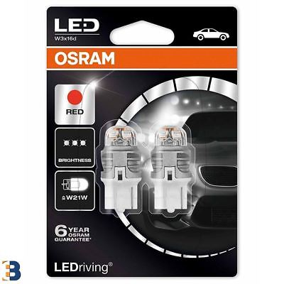 OSRAM W21W 582 12V LEDriving Red 7905R-02B Exterior LED Premium Retrofit Set