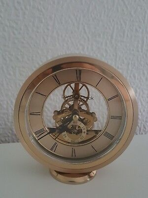 London Clock Company Round Carriage Clock, Gold