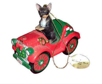Collectible~Danbury Mint The 2012 Annual Chihuahua Ornament~Rockin' Roadster