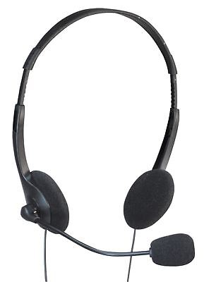 Soundlab Stereo Multimedia Headphones with Mic and Extended 2.5m Lead