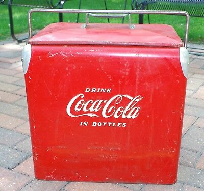 Coca Cola Picnic Cooler Vintage Antique Retro