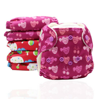 MABOJ 3 Pack Newborn AIO Cloth Diapers Lot Stay Dry Reusable All in One Nappies