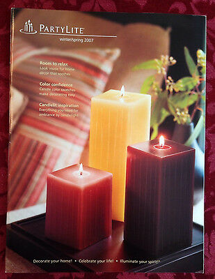 PartyLite 2007 Winter / Spring Everyday Catalog Retired Book Consultant HTF