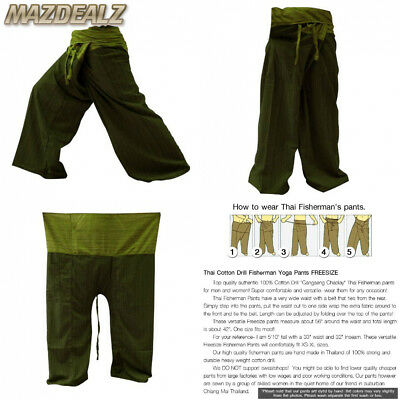 a8f92a63171 2 Tone Thai Fisherman Pants Yoga Trousers Free Size Cotton Gray and Charcoal