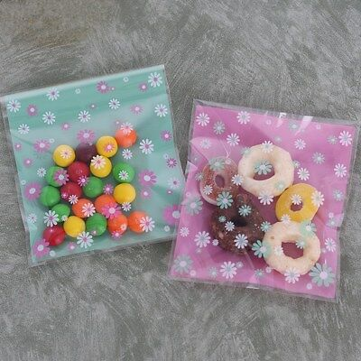 Plastic Resealable Bags Colored Small Chrysanthemum Self-Adhesive About 100pcs