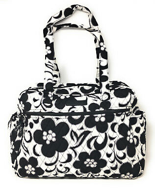Vera Bradley Baby Bag / Diaper Bag (Night & Day) with Black Interior