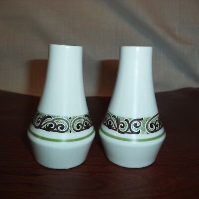 Noritake Progression Japan SALT & PEPPER Shakers OLE Pattern NEW Ceramic